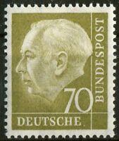 Bund Nr. 191 sauber postfrisch BRD 70 Pfennig Heuss I aus 1954 MNH