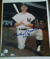 Mickey Mantle hand signed Yankees 8 x 10 photo with rare #7 inscription. GAI COA