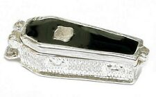 STERLING SILVER OPENING ENAMELLED GOTHIC COFFIN CHARM