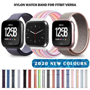 Nylon Woven Loop Watch Wristband For Fitbit Versa 2 1 Lite Bands Strap Sports