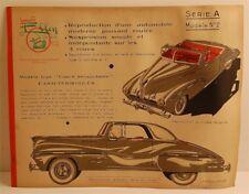 ELLEN NEUMANN Jouet Maquette Automobile à Construire SERIE A Modèle n°2 1956 Jeu