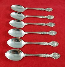 6 Teaspoons Chablis by Supreme Cutlery Towle Stainless Flatware w/ Silverplate