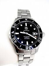 Gents Tag Heuer Aquaracer WAN2110 steel black dial watch boxed