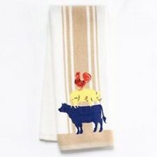 Sonoma Homestead Kitchen Towel Cow Pig Rooster Farm Animal Stacked Animals NEW