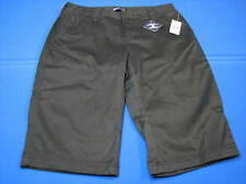 New Gap Kids 18 Regular Girls Black Flat Front Shorts Cropped Pants V 304697 NWT