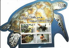Tonga 2013 MNH National Cultural Center Turtles 8v on 2 Die Cut Sheets Reptiles