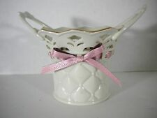 Lenox Tied With Love Pierced Bethany Basket 24K Trim Nice Wedding Gift W/Tag