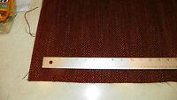 Burgundy Gold Chevron Print Upholstery Fabric Remnant   F1209