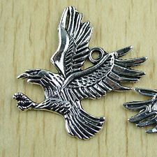 10pcs Large Eagle Charm Bird Charms Antique Silver Tone 49x32mm 2192