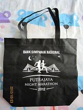 Putrajaya Night Marathon 2012/BSN/Siemens Black Cloth Reusable Shopping Bag 1pcs