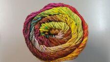 Noro Taiyo Colour #92 - 100g Pink Green Yellow Aqua Brown Wool Silk Cotton