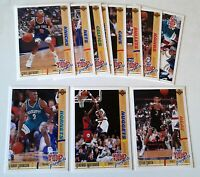 1991 UPPER DECK NBA TOP PROSPECTS CHECKLIST SINGLES LOT of 11 / #438-#448 MINT