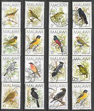 MALAWI 1988 SG#518-33 BIRDS DEFINITIVE COMPLETE POSTAL VFU SET 0464