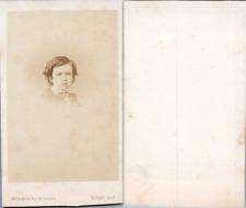 Levitsky, Paris, Portrait de petit garçon, circa 1870 CDV vintage albumen -  T
