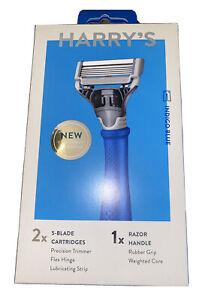 HARRY'S RAZOR - 2X 5-Blade Cartridges (NAVY BLUE)