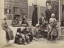 Egypte Le Caire Cairo Photo Albumine Tirage vers 1890 en petit format