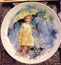 Vintage Limoges Les Enfants Christiane Et Fifi Plate France With Stand