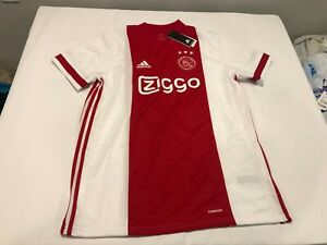 NWT $90.00 Adidas Mens Ajax Amsterdam Soccer Home Jersey Red / White Size XL