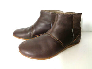 AHNU Leela Ankle Booties 1012082PRT Brown Porter Leather US 9*M