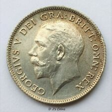 More details for 1922 king george v silver .500 sixpence coin, high grade with good detail.