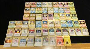 Part Complete 4th Print Base Set. Pokemon Cards. Mostly Near Mint. 60/102. RARE.
