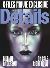 GILLIAN ANDERSON POSTER ~ DETAILS MAGAZINE COVER 24x32 X-Files Pinup