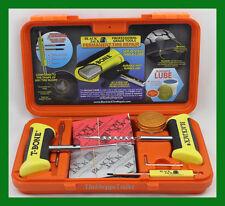 "BlackJack Passenger Tire Repair Kit T-Bone Handles 20 4"" Plugs Orange Case KT330"