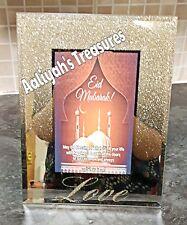 Personalised Eid mubarak frame home deco glass family frame ramazan