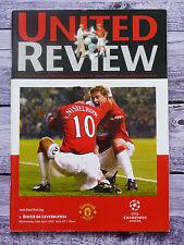 Programm Manchester United - Bayer Leverkusen Champions League Halbfinale 2002