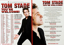 2 X TOM STADE YOU'RE WELCOME TOUR FLYERS