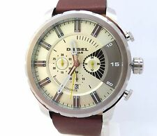 DIESEL STRONGHOLD 48MM STAINLESS STEEL CHRONOGRAPH WATCH, DZ4346, NIB W/TAG,