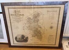 1834 Antique Large Framed Map; Buckinghamshire by C. & J. Greenwood
