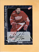 2001 02 ITG SIGNATURE SERIES AUTO #62 MARTIN LAPOINTE DETROIT RED WINGS