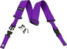 """DiMarzio ClipLock Quick Release Guitar Strap 2"""" Nylon, Purple"""