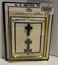 N.S. MEYER, Christian Cross, Black Metal Meyer Insignia, WWII Style NEW