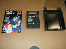 """1981 PHILIPS VIDEOPAC""""JUMPING ACROBATS""""CIRCUS VIDEO CARTRIDGE NO.33 W/BOOK& CASE"""