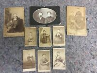 Lot Of Antique Photos From Hanover, Pa-CDV-Cabinet Cards
