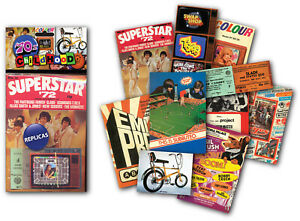 1970's Childhood Memorabilia Pack with over 20 pieces of Replica Artwork