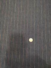 Stretch Denim Fabric - Indigo Blue - pin stripe - Half Metre