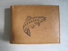 """Mankind Wallets-Men's Leather RFID Billfold with FREE """"Trout Fishing"""" Image"""