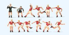 Preiser 10075 Échelle H0 Figurines, Équipe de Football, Rouge Maillots #