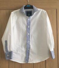 Boys White/Blue Next Shirt Age 5 yrs. Long Sleeved, Smart. VGC