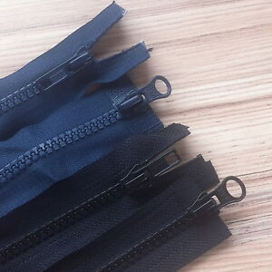 """BLACK OR  NAVY  2-WAY CHUNKY ZIP- 22""""-30"""" OPEN FROM TOP AND BOTTOM!"""