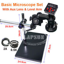 2k Max 360x 60fps 38mp Hdmi Usb Industry Microscope Camera Stand Lens Light