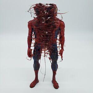 Graffiti art original spider man pop art figurine toy by Nyc street artist PUKE