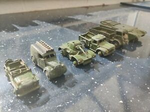 Dinky Toys Military Armoured Tank Champ 641 Wagon 623 Van 261 Collection #18