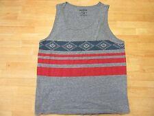 True Religion Mens Tank T-shirt Sleeveless Gray Large