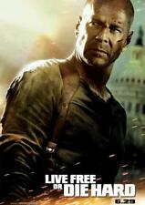 Poster Locandina - Live free or Die Hard - Formato A3 (42x30 cm)