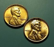 1958 P D LINCOLN WHEAT PENNY 2 COIN SET #W5749