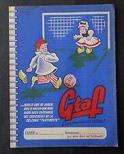 Protège cahier publicitaire Fromage tartinette GRAF Football par LALART